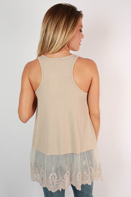 Too Hot To Handle Tank in Taupe