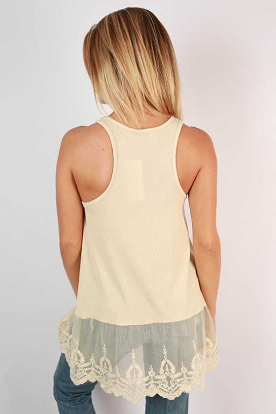 Too Hot To Handle Tank in Beige
