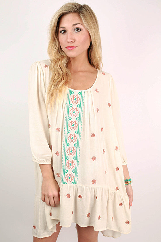 Fun Times In France Tunic in Ivory