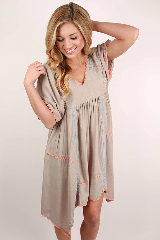 Flying First Class Tunic in Grey
