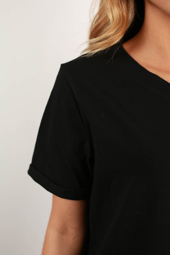 Study With Me T-shirt Dress in Black