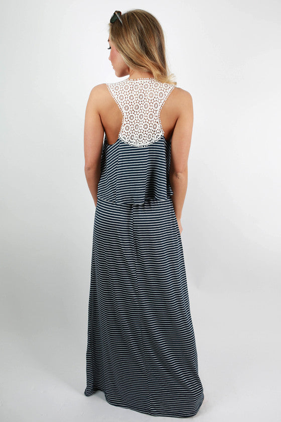 Bronzed & Beautiful Maxi Dress in Navy