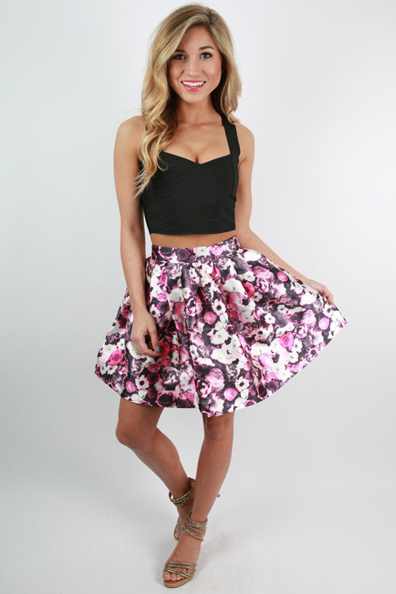 Catch The Bouquet Floral Skirt