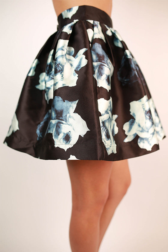 Delicate As A Rose Floral Skirt