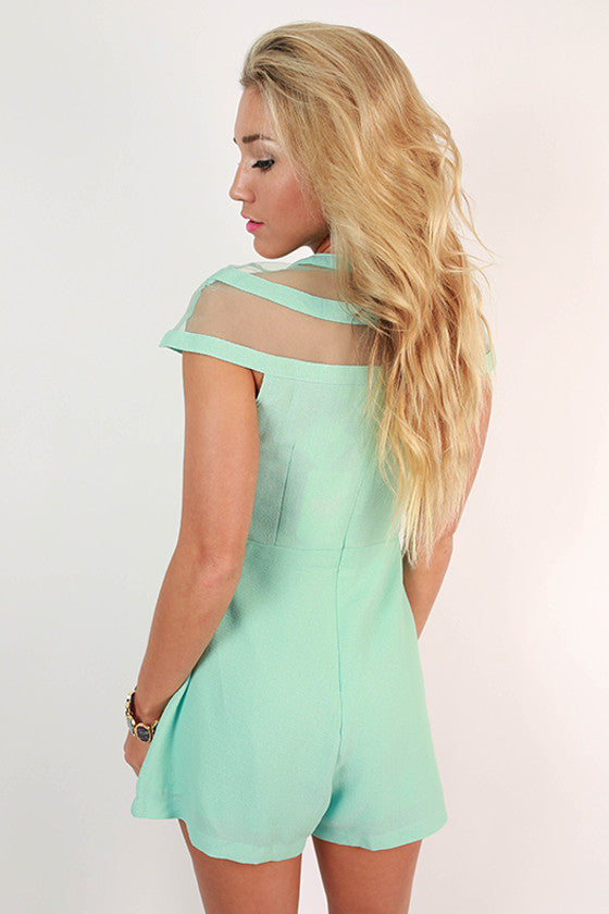 Wine & Dine Romper in Mint
