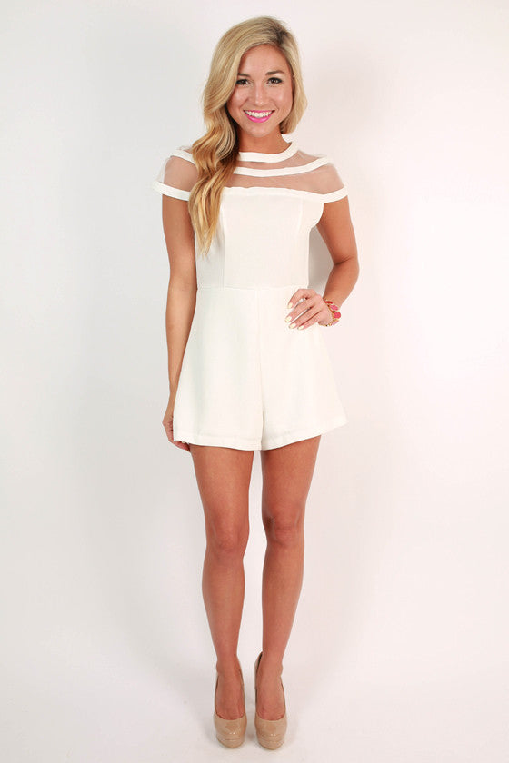 Wine & Dine Romper in White