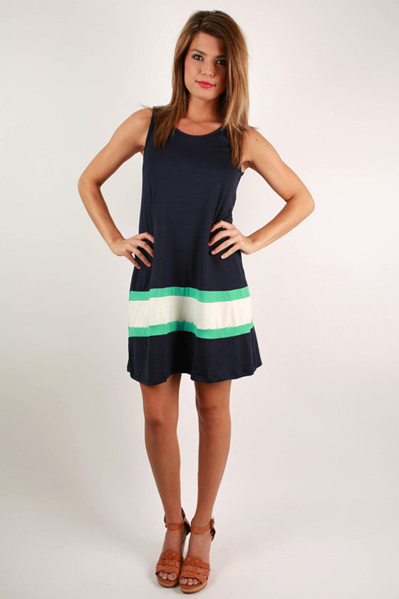 Beach Life Shift Dress in Navy