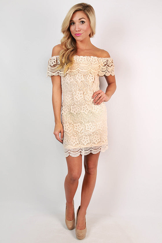 Perfect For You Crochet Dress in Peach