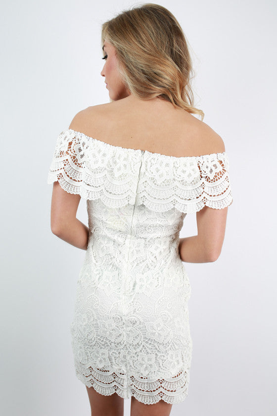 Perfect For You Crochet Dress in White
