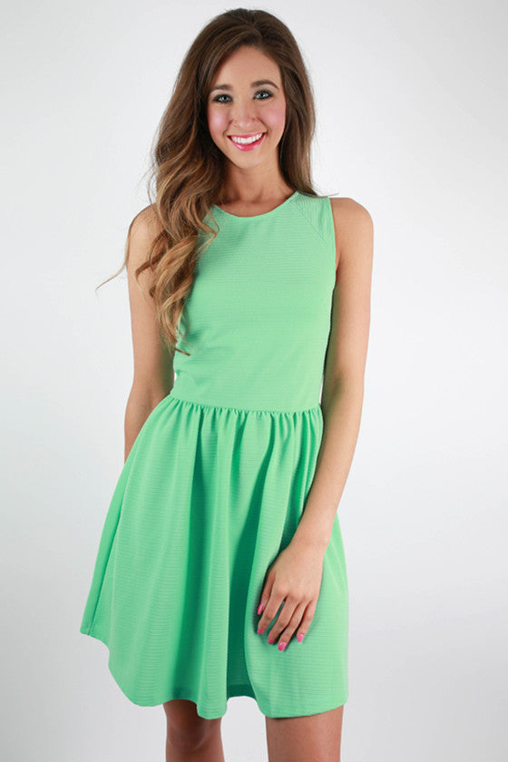 Oh So Divine Fit and Flare Dress in Mint