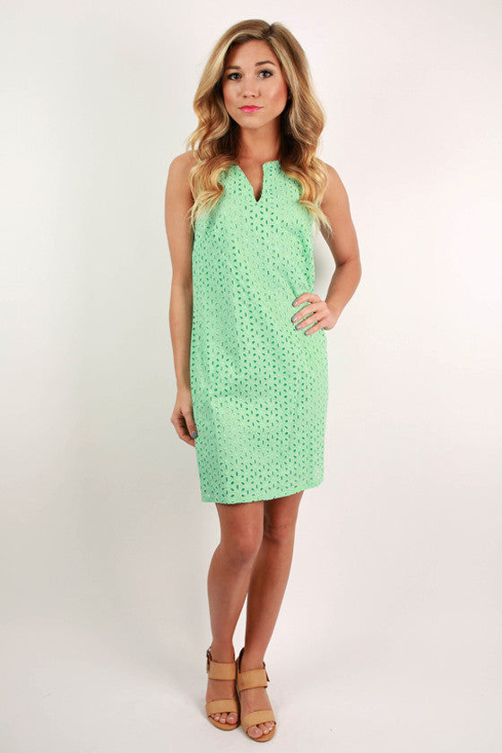 Ice Cream Social Dress in Mint