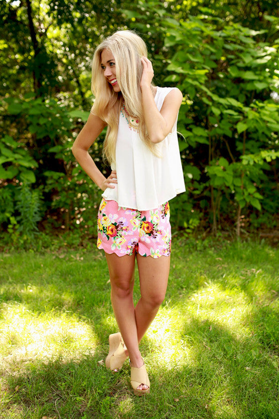 Easy on the Eyes Floral Shorts