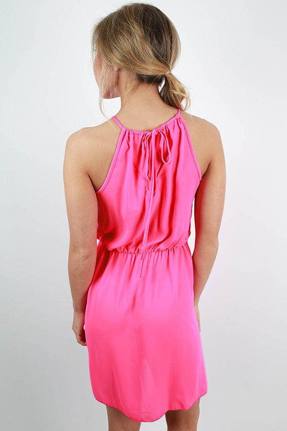 Party On Dress in Hot Pink