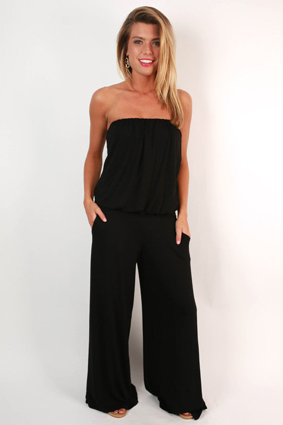 A Perfect Reunion Jumpsuit in Black