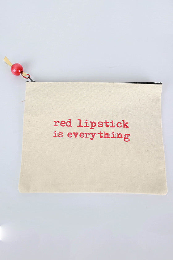 Canvas Bag Red Lipstick