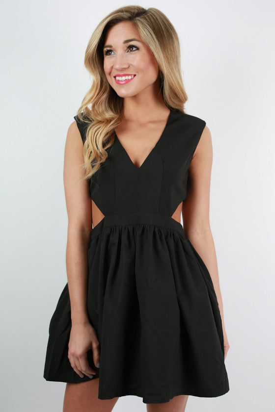Shine On Me Dress in Black