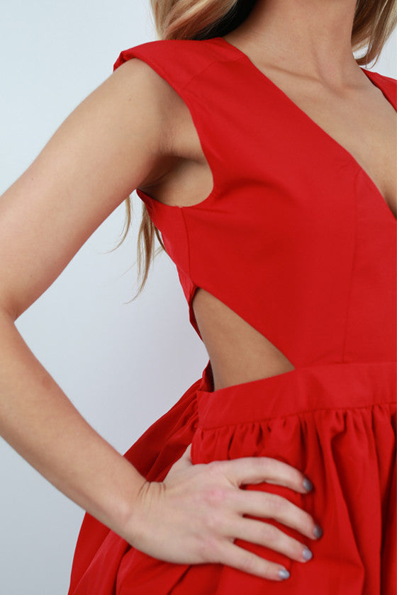 Shine On Me Dress in Red