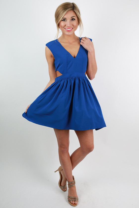 Shine On Me Dress in Sapphire