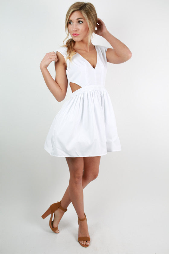 Shine On Me Dress in White