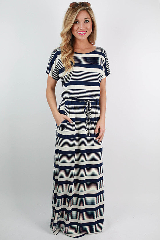 Santa Rosa Beach Maxi Dress in Navy