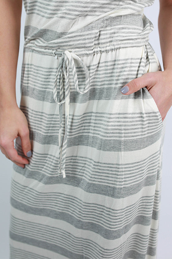 Santa Rosa Beach Maxi Dress in Grey