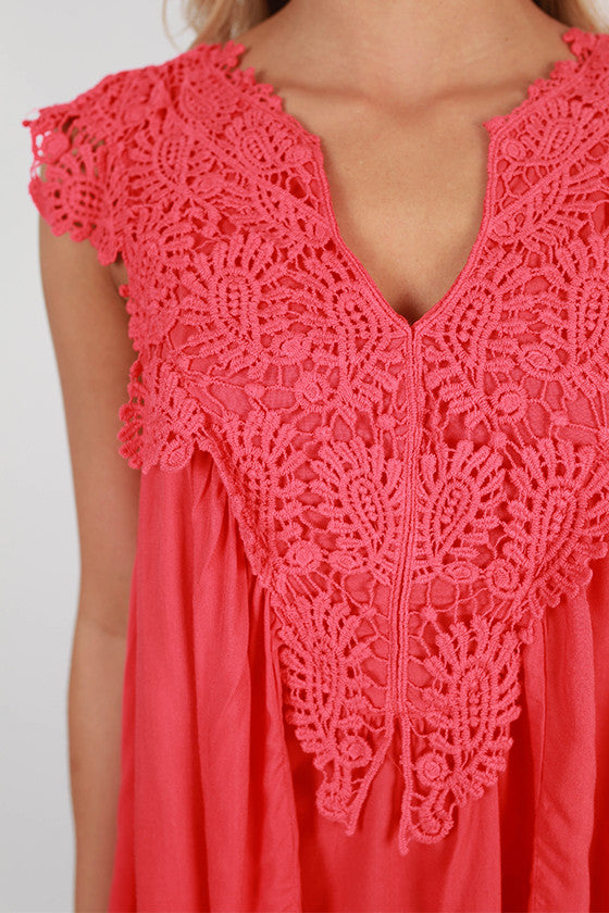 Sweet & Sun Kissed Top in Tomato