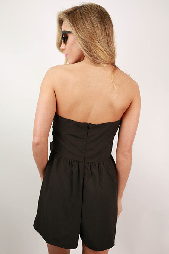 Miss Priss Romper in Black