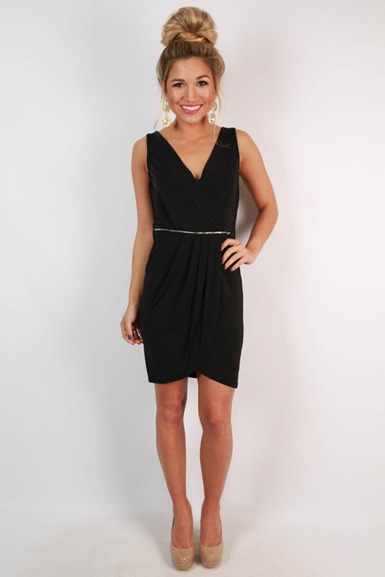 Party With The Royals Dress in Black