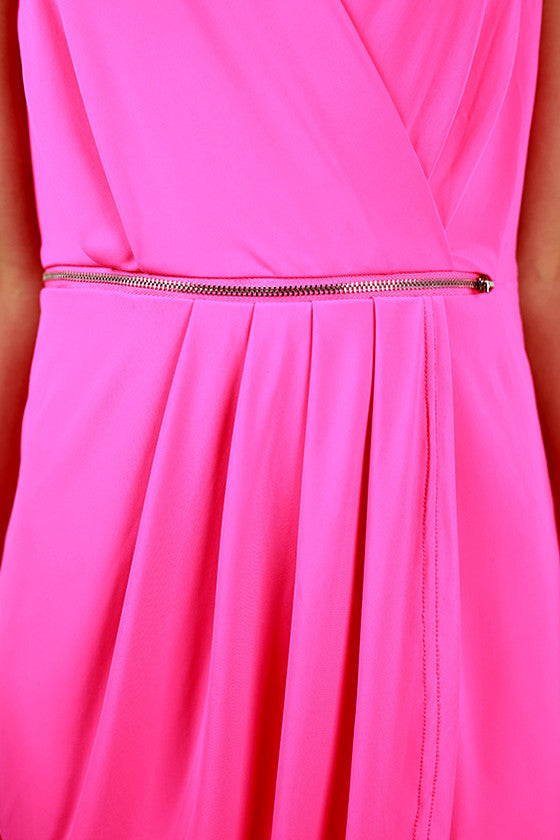Party With The Royals Dress in Hot Pink