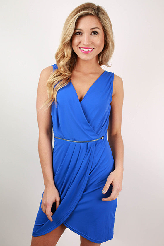 Party With The Royals Dress in Royal Blue