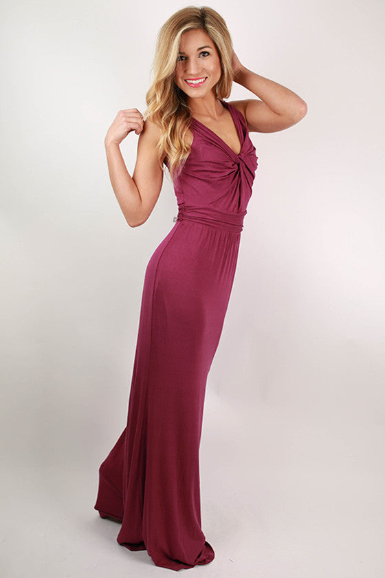Ready to Sail Maxi Dress in Royal Lilac