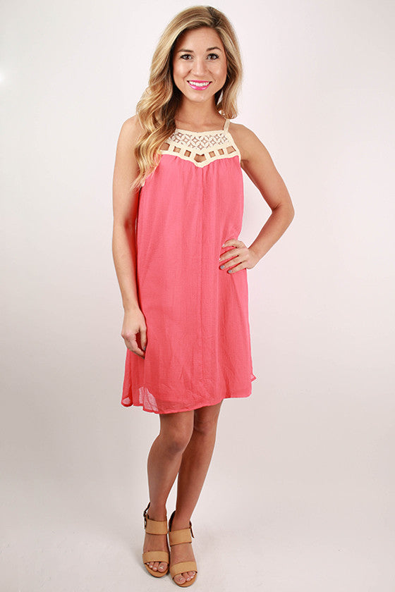 Sway With Me Tunic Dress in Coral