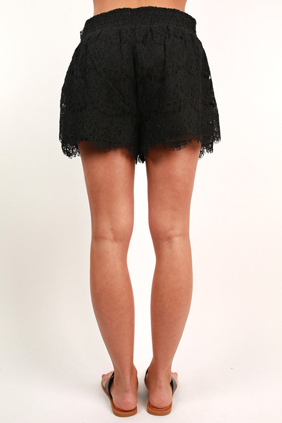 Free Spirit Floral Shorts in Black