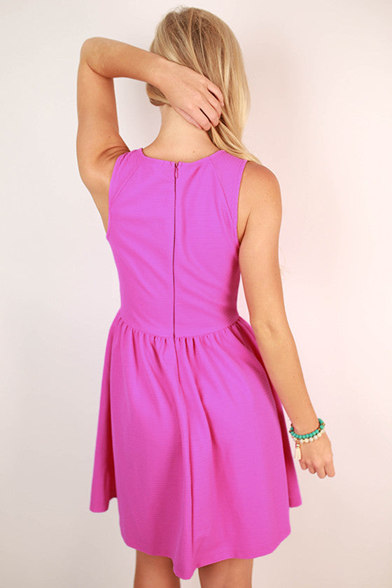 Oh So Divine Fit and Flare Dress in Violet