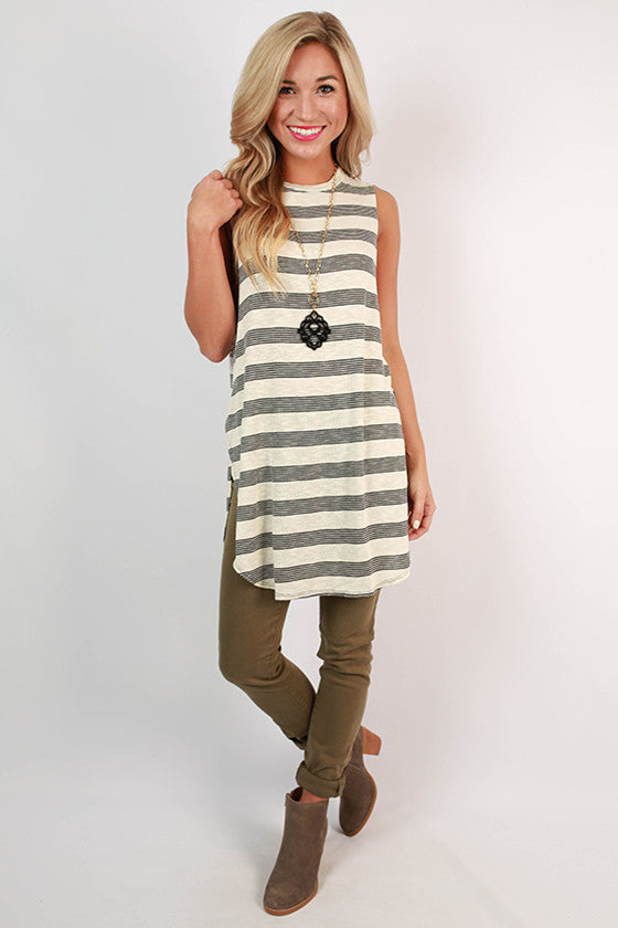 Seabreeze Stripe Tunic in Ivory