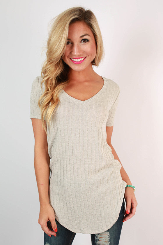 Savvy Socialite Tee in Grey