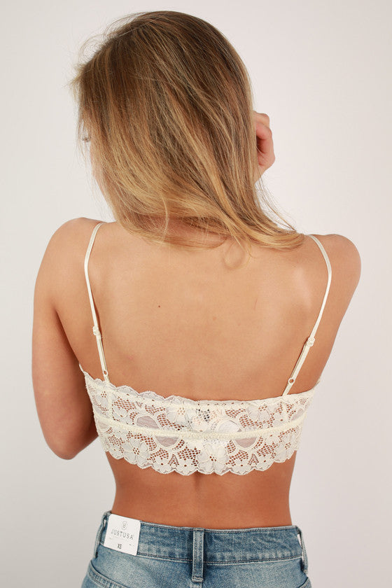 Lovely In Lace Bralette In Ivory