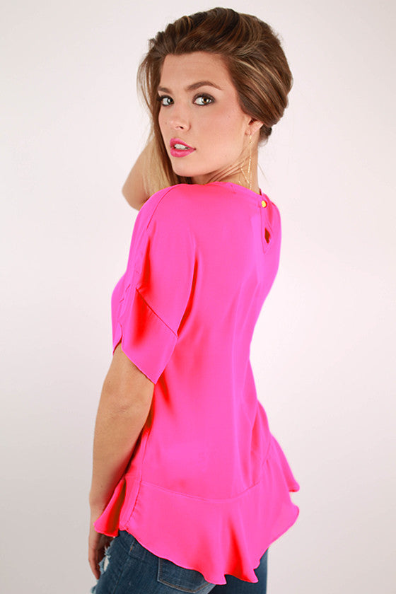 Summer In Italy Top in Hot Pink