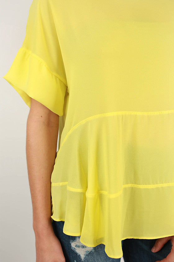 Summer In Italy Top in Yellow