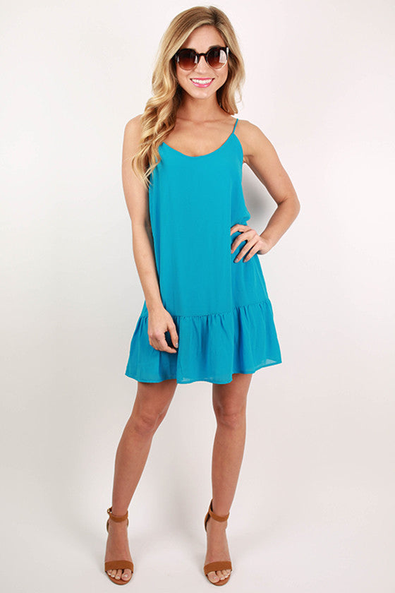 Chasing Sunsets Mini Dress in Electric Blue