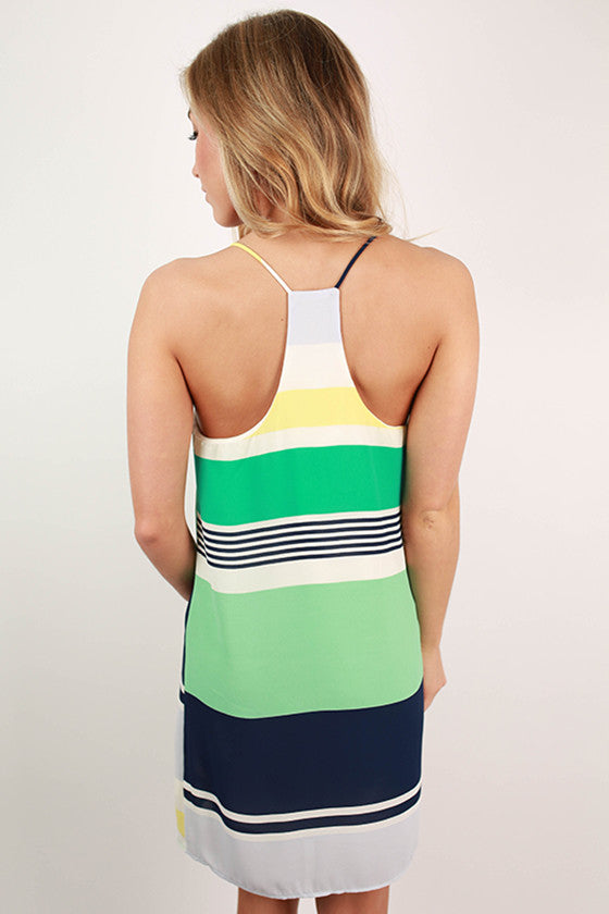 Beachy Keen Stripe Tunic Tank in Mint