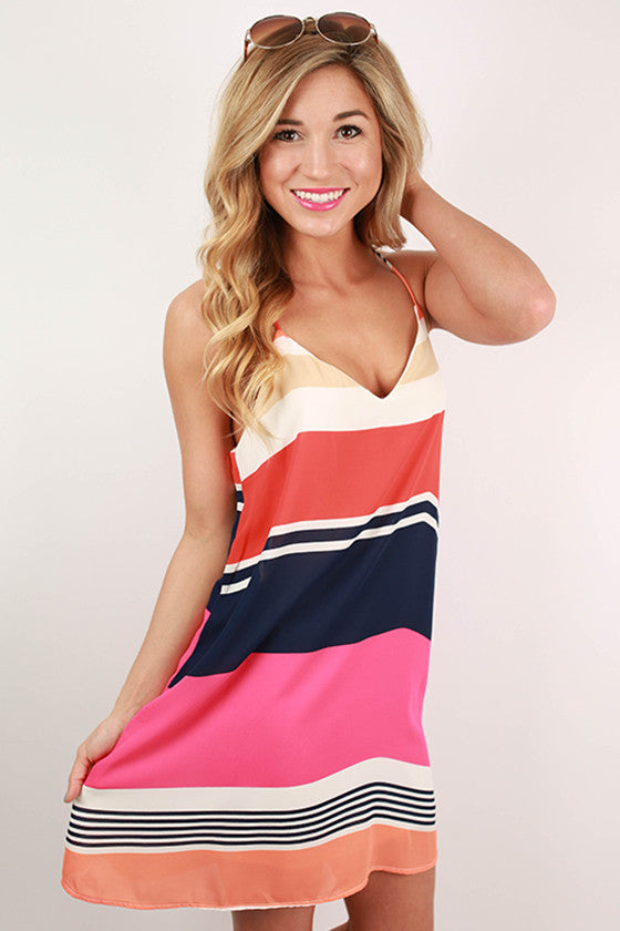 Beachy Keen Stripe Tunic Tank in Pink