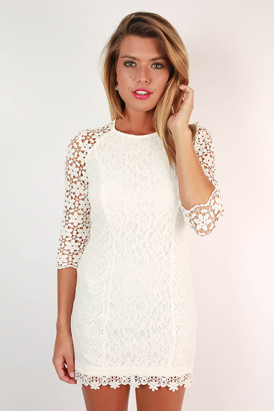 Crochet Kiss Dress in White