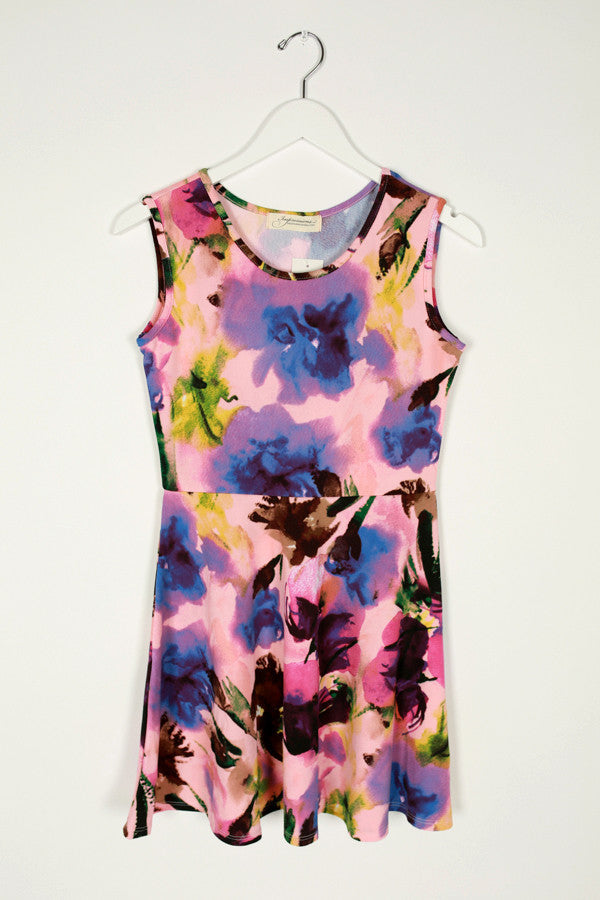 Stay Stylish Floral Dress in Pink