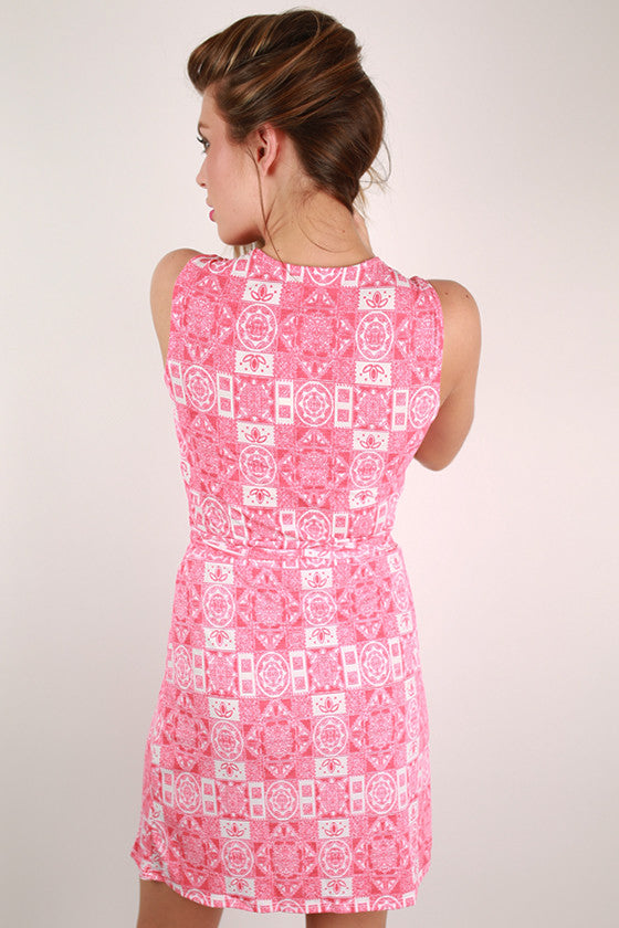 In A New York Minute Wrap Dress in Pink