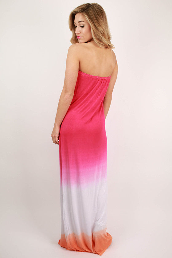 Patio Season Maxi Dress in Hot Pink