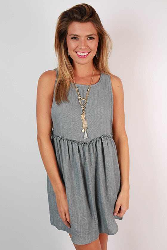 Derby Darling Soft Denim Dress