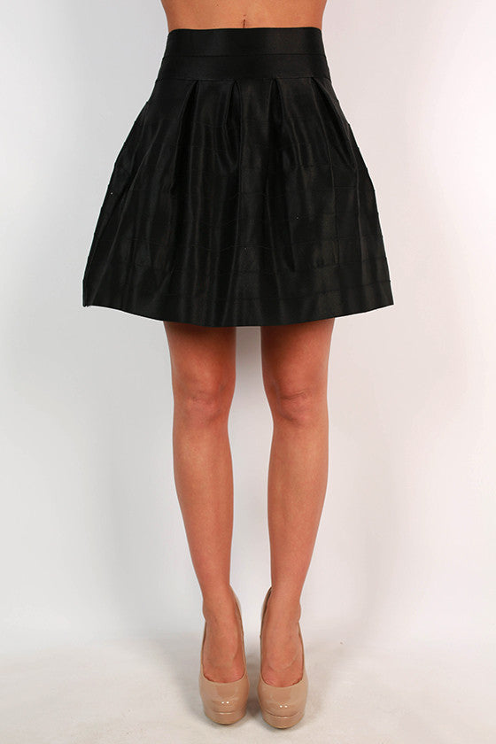 Show & Tell Bandage Flare Skirt in Black