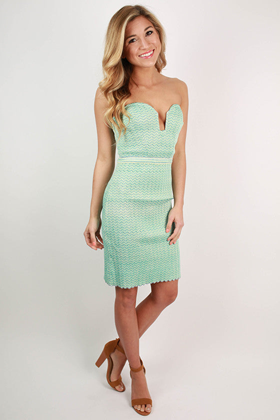 Positively Glowing Sweetheart Bodycon Dress