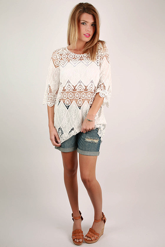 Truly Crochet Top in White